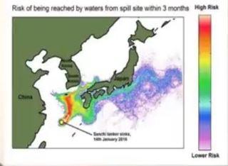 沈没中国タンカー 一月の時点での四月の海域汚染予想.JPG